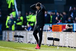Huddersfield Town caretaker manager Mark Hudson cuts a dejected figure- Mandatory by-line: Robbie Stephenson/JMP - 20/01/2019 - FOOTBALL - The John Smith's Stadium - Huddersfield, England - Huddersfield Town v Manchester City - Premier League