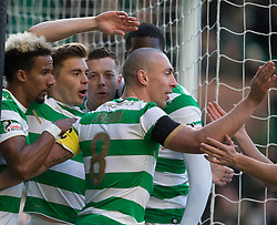 CelticÕs James Forrest (second left) celebrates scoring his side's first goal of the game during the William Hill Scottish Cup, Fourth Round match at Celtic Park, Glasgow.