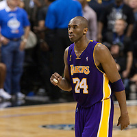 11 June 2009: Kobe Bryant of the Los Angeles Lakers reacts during game 4 of the 2009 NBA Finals won 99-91 by the Los Angeles Lakers over the Orlando Magic at Amway Arena, in Orlando, Florida, USA.
