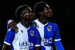 Henry Njonjo of Bristol Rovers and Levi Paul of Bristol Rovers - Mandatory by-line: Robbie Stephenson/JMP - 29/10/2019 - FOOTBALL - County Ground - Swindon, England - Swindon Town v Bristol Rovers - FA Youth Cup Round One