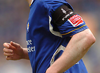 Photo: Leigh Quinnell.<br /> Leicester City v Preston North End. Coca Cola Championship. 15/04/2006. Armband worn by players as a tribute to the Hillsbrough victims.