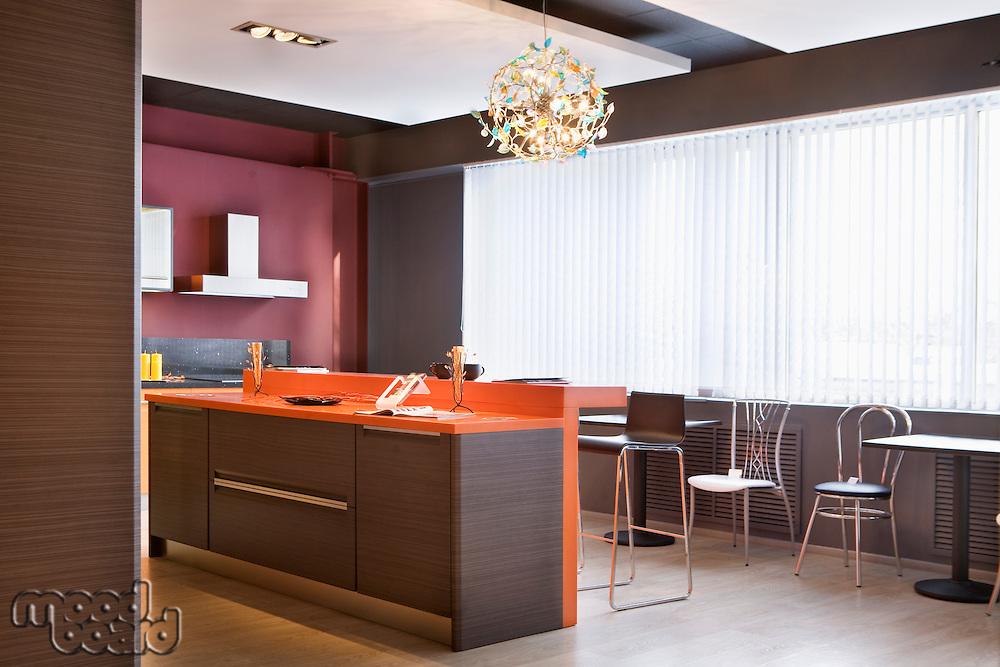 A kitchen interior