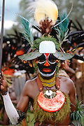 Man at a Sing Sing tribal gathering Papua New Guinea, South Pacific