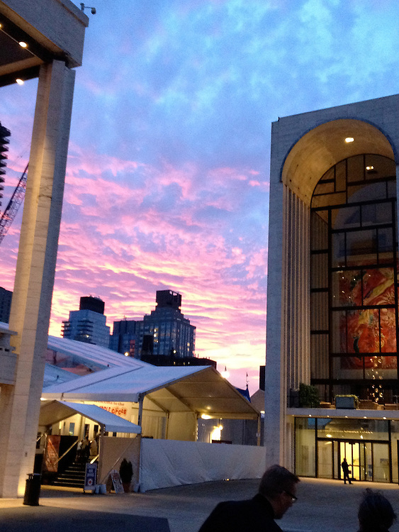 Lincoln Center at dusk.
