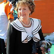 Koningsdag 2014 in de Rijp, het vieren van de verjaardag van de koning. / Kingsday 2014 in the Rijp , celebrating the birthday of the King. <br /> <br /> <br /> Op de foto / On the photo:  Prinses Margiet / Princess Margiet
