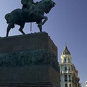 "South America, Uruguay, Canelones, Montevideo, downtown, tomb of Jose Gervasio Artigas, the ""Father"" of Uruguay, Avenida 18 de Julio, Plaza de la Independencia, Independence."