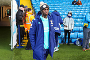 Leeds United forward Edward Nketiah (14), on loan from Arsenal, arriving   during the EFL Sky Bet Championship match between Leeds United and Cardiff City at Elland Road, Leeds, England on 14 December 2019.