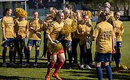 FODBOLD: Katrine Abel (Brøndby IF) i jubeldans efter kampen i 3F Ligaen mellem Brøndby IF og Fortuna Hjørring den 11. maj 2019 på Brøndby Stadion. Foto: Claus Birch