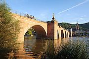 Alte Brücke, Neckar, Heidelberg, Baden-Württemberg, Deutschland | Heidelberg, Old Bridge, river Neckar, Germany