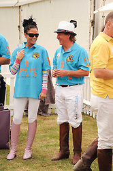 Asprey World Class Cup polo held at Hurtwood Park Polo Club, Ewhurst, Surrey on 17th July 2010.<br /> Picture shows:- KATIE PRICE and KENNEY JONES