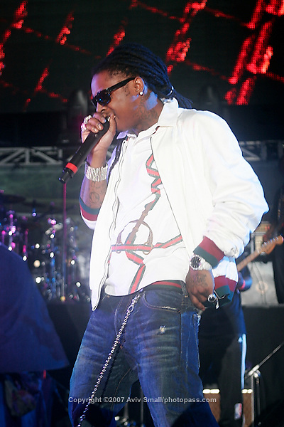Lil' Wayne performing at Giant's Stadium in East Rutherford New Jersey on June 3, 2007 during Hot 97's Summerjam 2007.