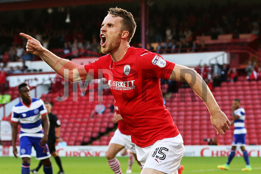 Marley Watkins of Barnsley celebrates after scoring his sides first goal  - Mandatory by-line: Matt McNulty/JMP - 17/08/2016 - FOOTBALL - Oakwell Stadium - Barnsley, England - Barnsley v Queens Park Rangers - Sky Bet Championship