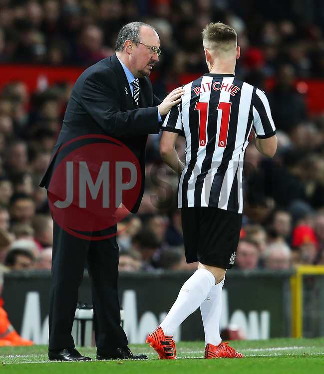 Newcastle United manager Rafa Benitez gives instructions to Matt Ritchie  - Mandatory by-line: Matt McNulty/JMP - 18/11/2017 - FOOTBALL - Old Trafford - Manchester, England - Manchester United v Newcastle United - Premier League