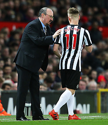 Newcastle United manager Rafa Benitez gives instructions to Matt Ritchie  - Mandatory by-line: Matt McNulty/JMP - 18/11/2017 - FOOTBALL - Old Trafford - Manchester, England - Manchester United v Newcastle United - Premier League