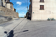 desolate village street at noon during the Covid 19 crisis Escueillens France May 2020