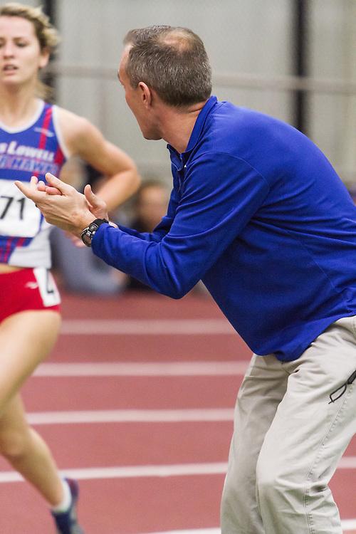 Boston University Multi-team indoor track & field, women 3000 meters, UMass Lowell coach