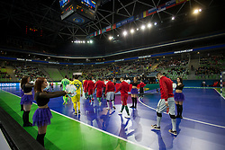 Arena Stozice and players during futsal match between National teams of Ukraine and Portugal at Day 6 of UEFA Futsal EURO 2018, on February 4, 2018 in Arena Stozice, Ljubljana, Slovenia. Photo by Urban Urbanc / Sportida