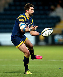 Wynand Olivier of Worcester Warriors passes the ball - Mandatory by-line: Robbie Stephenson/JMP - 28/01/2017 - RUGBY - Sixways Stadium - Worcester, England - Worcester Warriors v Harlequins - Anglo Welsh Cup