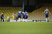 Southend players celebrating doing the mannequin challenge 1-0 during the EFL Sky Bet League 1 match between Southend United and Bradford City at Roots Hall, Southend, England on 19 November 2016. Photo by Matthew Redman.