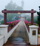 Goldenrod Foot Bridge in Corona Del Mar of Newport Beach California