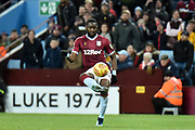 Aston Villa midfielder (on loan from Everton) Yannick Bolasie (11) tries to lob the QPR Keeper during the EFL Sky Bet Championship match between Aston Villa and Queens Park Rangers at Villa Park, Birmingham, England on 1 January 2019.