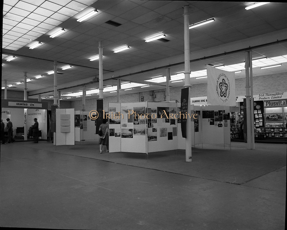 US Embassy -Life, Liberty and the Pursuit of Happiness. Horse Show .05/08/1976.08/05/1976.5th August 1976.Photograph of the U.S. Embassy Stand at the RDS which celebrated Americas Bicentennial. The United States Bicentennial was a series of celebrations and observances during the mid-1970s that paid tribute to the historical events leading up to the creation of the United States as an independent republic.