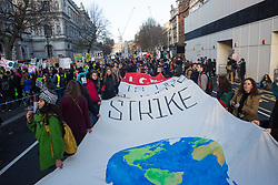 London, UK. 29 November, 2019. School children and students take part in the Youth Strike for Climate organised by UK Student Climate Network (UKSCN) as part of the Fridays for Future Global Climate Strike called for by Greta Thunberg in the face of inaction by world governments to combat the climate emergency. UKSCN aim to increase the profile of the climate emergency for general election campaigning in the UK but also to apply pressure on the UN Climate Change Conference COP25 in Madrid.