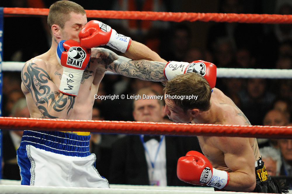 Ricky Burns defeats Michael Katsidis for WBO Lightweight Title at Wembley Arena on the 05.11.11. Promoter Frank Warren.Photo credit: © Leigh Dawney 2011.