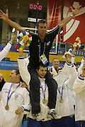 Almeria, 01/07/2005<br /> Finale Giochi del Mediterraneo Almeria 2005<br /> Premiazione Italia<br /> marco carraretto