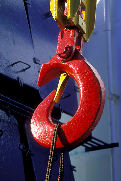 Red cargo Hook at the Port of Houston