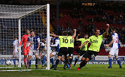 Steven Taylor of Peterborough United celebrates his sides opening goal - Mandatory by-line: Joe Dent/JMP - 19/04/2018 - FOOTBALL - Ewood Park - Blackburn, England - Blackburn Rovers v Peterborough United - Sky Bet League One