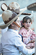 Analia Franco de Anda, right, and her cousin Luis Alfonso Franco Jimenez at the family Charreria practice session in the Jalisco Highlands town of Capilla de Guadalupe, Mexico. The Franco family has dominated Mexican rodeo for 40-years and has won three national championships, five second places and five third places.