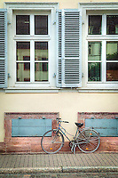 Old home with Old bike in Heidelberg Germany