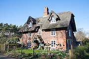 Historic detached thatched rural home called Smoky House, Sudbourne, Suffolk, England