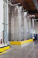 Large silos in bottling industry