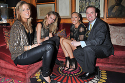 Left to right, Tessa Pilkington, Sofia Wellesley, Emma Pilkington, Lord Harry Dalmeny at the Johnnie Walker Blue Label and David Gandy partnership launch party held at Annabel's, 44 Berkeley Square, London on 5th February 2013.