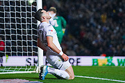 Leeds United midfielder Jack Harrison (22) reacts during the EFL Sky Bet Championship match between Leeds United and Blackburn Rovers at Elland Road, Leeds, England on 9 November 2019.