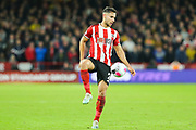 Sheffield United defender George Baldock (2) during the Premier League match between Sheffield United and Arsenal at Bramall Lane, Sheffield, England on 21 October 2019.
