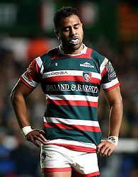 Telusa Veainu of Leicester Tigers looks frustrated - Mandatory by-line: Robbie Stephenson/JMP - 23/10/2016 - RUGBY - Welford Road Stadium - Leicester, England - Leicester Tigers v Racing 92 - European Champions Cup