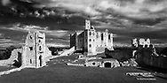 "Warkworth Castle is the scene from Shakespeare's Henry IV: ""this worm-eaten hold of ragged stone, where Hotspur's father, old Northumberland, lies crafty-sick""  Aspect Ratio 1w x 0.5h."