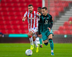STOKE-ON-TRENT, ENGLAND - Saturday, January 25, 2020: Swansea City's Bersant Celina during the Football League Championship match between Stoke City FC and Swansea City FC at the Britannia Stadium. (Pic by David Rawcliffe/Propaganda)