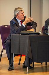 Pictured: Gordon Brown<br /><br />Gordon Brown addressed thenew Scottish think tank seminar today.  He was joined by Shadow Scottish secretary Lesley Laird and Scottish Labour leader Richard Leonard who also spoke at the inaugural meeting of Our Scottish Future<br /><br />Ger Harley | EEm 30 August 2019