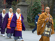 Buddhist priests procession at the Asakusa Kannon Temple Tokyo