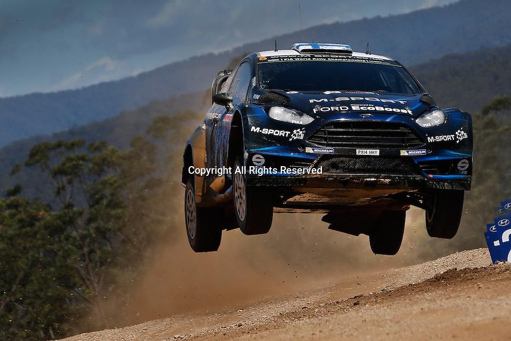 14.09.2014. Coffs Harbour, NSW, Australia.  Mikko Hirvonen (FIN) / Jarmo Lehtinen (FIN)- Ford Fiesta WRC