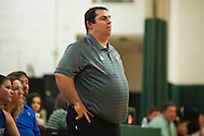 Vergennes head coach Billy Waller watches the action on the court during the girls basketball game between Vergennes and Winooski at Winooski High School on Wednesday night December 9, 2015 in Winooski. (BRIAN JENKINS/for the FREE PRESS)