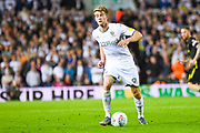 Leeds United forward Patrick Bamford (9) in action during the EFL Sky Bet Championship match between Leeds United and Brentford at Elland Road, Leeds, England on 21 August 2019.