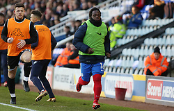 Junior Morias of Peterborough United warms up on the touchline on his comeback from injury - Mandatory by-line: Joe Dent/JMP - 23/12/2017 - FOOTBALL - ABAX Stadium - Peterborough, England - Peterborough United v Bury - Sky Bet League One