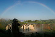 TISSISAT, GOJJAM/ETHIOPIA..Rainbow over the waterfalls of the Blue Nile, approyimately 35kms downriver from its origin at Bahar Dar/Lake Tana..(Photo by Heimo Aga)