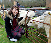 Teagasc's Science Week  saw secondary schools from County Galway attend Teagasc Athenry.  Jennifer Connolly Presentation College Athenry with some of the sheep on display. Photo:Andrew Downes. Photo issued with compliments, no reproduction fee..