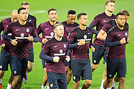 The England players go through their warm up routines during the England Training at Estadio Jos&eacute; Rico P&eacute;rez, Alicante<br /> Picture by Paul Chesterton/Focus Images Ltd +44 7904 640267<br /> 12/11/2015